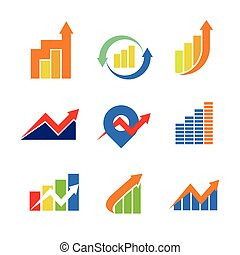 Financial Chart Symbol Sign Package