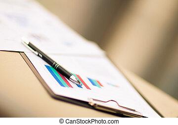 financial charts and graphs