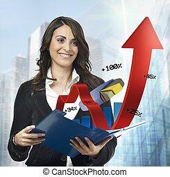 Financial charts notepad