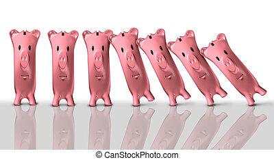Financial Colapse Concept