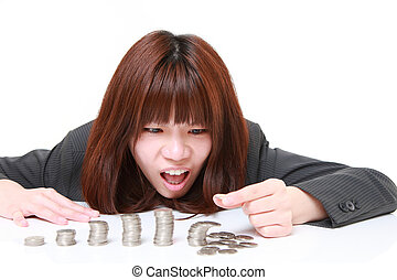 concept shot of young Japanese businesswoman