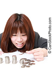 concept shot of young Japanese businesswoman's life