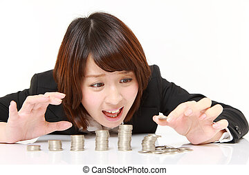stack of coins collapsed