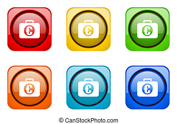 financial colorful web icons