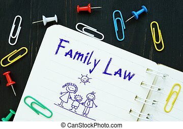 Financial concept about Family Law with inscription on the piece of paper.