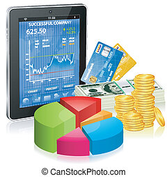 Financial Concept - Make Money on the Internet - Financial...