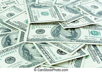 financial concept. money background from dollars usa