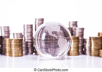 Financial concept. World and money