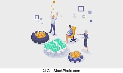 Financial consultation animation with white background