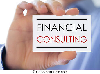 Financial consulting - business card concept