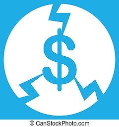 Financial Crash Icon