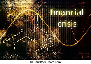 Financial Crisis Business Concept Wallpaper Presentation...