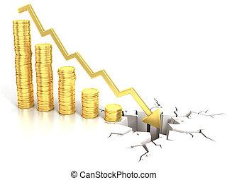 financial crisis 3d concept