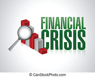 financial crisis concept illustration design