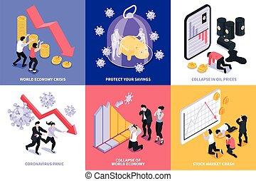 Financial Crisis Design Concept