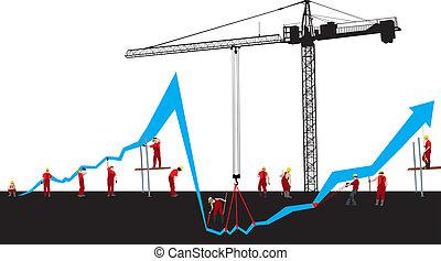 Financial crisis graph - Vector Financial crisis and recover...