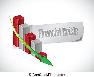 financial crisis graph illustration design