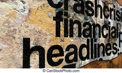 Financial crisis headline news