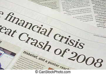 Financial crisis headlines - Newspaper headlines - finanical...