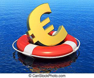 Financial crisis in Europe concept