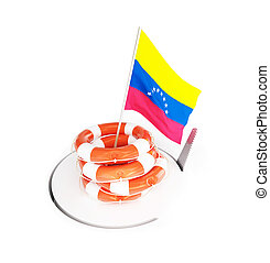 financial crisis in Venezuela on a white background 3D illustration, 3D rendering
