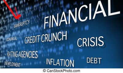 Financial crisis related words - Crisis related words scroll...