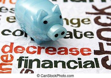 Financial decrease concept