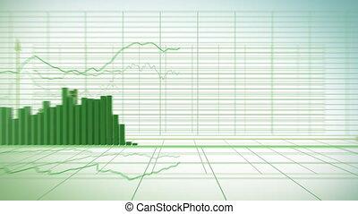 Financial diagrams - loop-ready fly through in HD