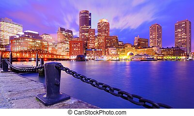 Boston Harbor - Financial District of Boston, Massachusetts ...