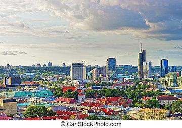 Financial district of Vilnius