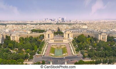 financial district paris aerial - skyline paris view of...