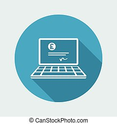 Financial document - Sterling - Vector flat icon