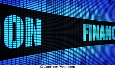Financial Education Side Text Scrolling LED Wall Pannel...