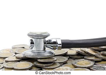 financial examination healthy concept