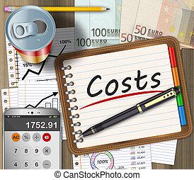 Financial expenses concept