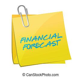 financial forecast post message illustration