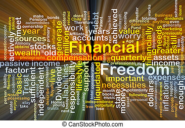 Financial freedom background concept glowing - Background...