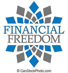 Financial Freedom Blue Grey Elements Square - Financial...