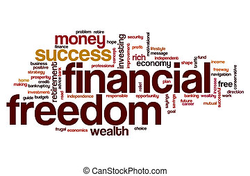 Financial freedom word cloud
