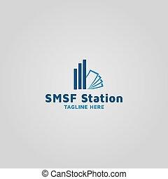Financial fund and money vector logo design