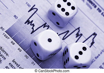 Dice and stock market graph
