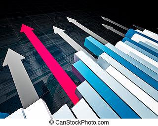 financial graph 3d background