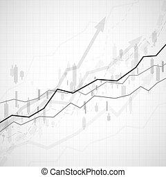 Financial graph chart. Business data analytics. Graph chart of stock market investment trading. Abstract analisys and statistic diagram. vector illustration