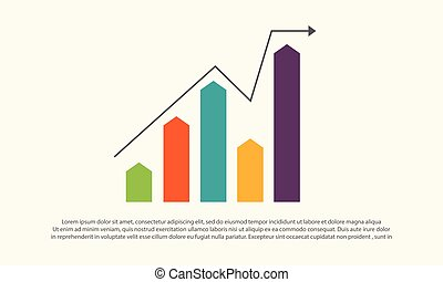 Financial graph chart business design