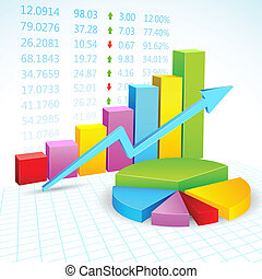 Financial Graph - illustration of business financial graph...