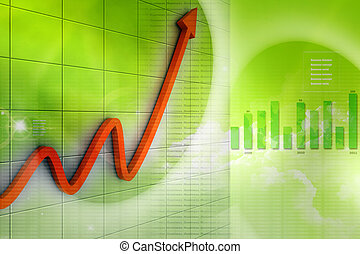 financial graph in business