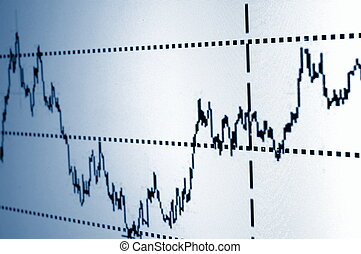 stock chart - financial graph or stock chart on screen of a...