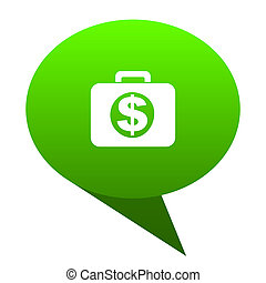 financial green bubble icon