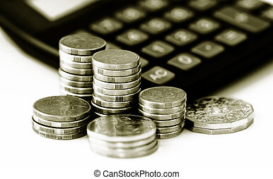 financial growth and savings - Conceptual image representing...