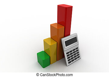 Financial growth concept with calculator